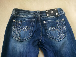 Miss Me Skinny Jeans Rhinestone Pockets Sz 27 MOVING SALE!!