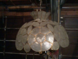 Pica shell swag lamp