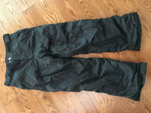 BOYS SIZE 10 / 12 BLACK SNOW PANTS GENTLY USED