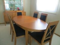 9 piece solid maple dining room set