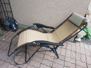 Outdoor reclining chair $60