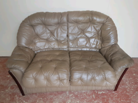2 seater leather sofa (delivered free)