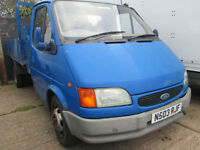 1996 N-reg Ford Transit 2.5D Tipper 190 LWB RARE Smiley Face. PX WELCOME