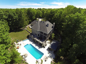 STUNNING!! Private Country Estate on 100 Acres with Shop!