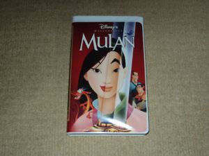 WALT DISNEY'S MULAN, ANIMATED VHS MOVIE, EXCELLENT CONDITION