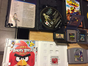 10$ each gameboy games, ps2 game, 3ds game, N64 games, gba games