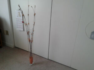 Tall  Vase with  orange sand  - Home Accent