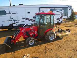 2017 TYM 234 Tractor,loader,brush cutter