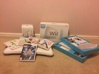 Wii bundle - console, 2x controllers, balance board and games