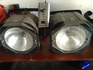 Two strobe lights with controller