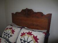 3/4 maple antique slat bed