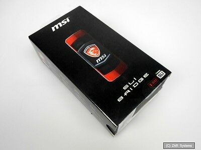 MSI GAMING SLI Bridge 2-Way L, SLI-Bridge für Grafikkarten, 914-4395-001, NEU