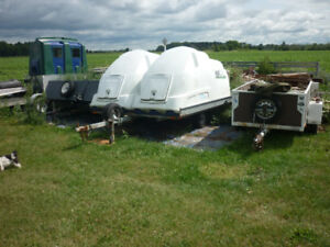 SNOWMOBILE DOUBLE ENCLOSED TRAILER