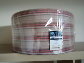 Pegazzi Lampshade pink stripe 50cm