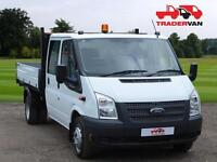 13 FORD TRANSIT 2.2 TDCI 350 125ps Long Wheel Base Double Cab Tipper DIESEL MA