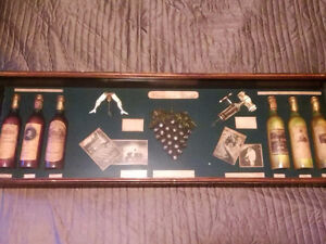 Wood and Glass Wine Display Case Baraphernalia hanging case!