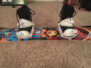 World Industries Kids Snowboard w Firefly Bindings and Boots