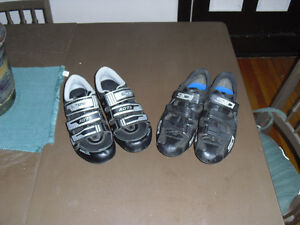 CHOICE SHIMANO or SIDI cycling road bike shoes SOULIERS 11 11.5