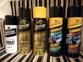 Turbojet air sanitiser sprays for home, car, office