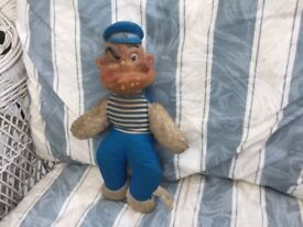 POPEYE AN EXCEPTIONALLY & INCREDIBLY RARE VINTAGE POPEYE. MADE BY K. F. S. Inc. APPX 60 YEARS OLD.