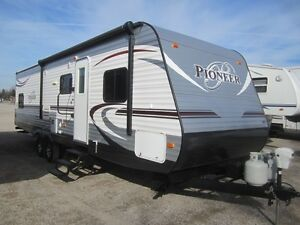 2014 Heartland Pioneer 30QB Travel Trailer ***QUAD BUNKS***