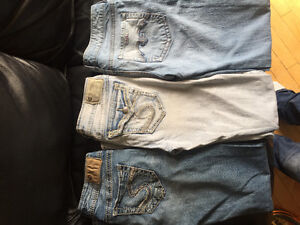 3 pairs of silver jeans