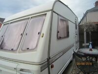 2 berth swift caravan(1992-vintage) great condition for age, light to tow and spacious for a 2 berth