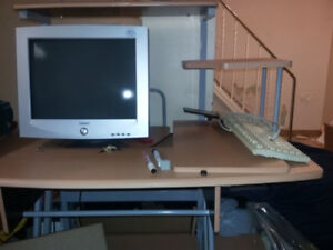furniture- desks,bed, tv stand, exercise bike - cheap!!!