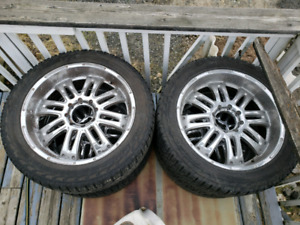 Ford f350 Harley davidson wheels 325/45/R24