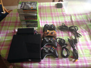 xbox 360 4 controllers and 17 games