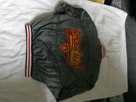 Genuine retro Manchester United bomber jacket.