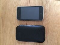 iPhone 3 with leather case