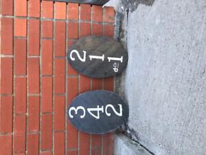 Slate address stones