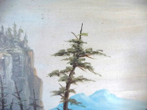 "Antique, Large Original Oil, ""Lake George"" by C. G. White Stratford Kitchener Area image 7"