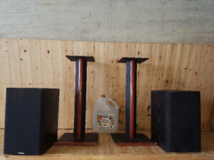 used speakers, as well stands-