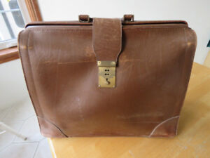 Vintage leather briefcase by Renwick