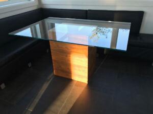 Table de salle a manger moderne minimaliste - 6 personnes