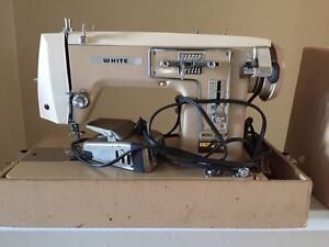 Industrial white sewing machine
