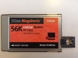 3com 56k cellular modem PC card with Xjack Connector