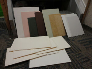 Lot of assorted thick board for painting scrapbooking etc