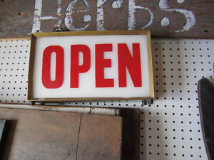 """""""OPEN"""" store sign light (needs new plug and wiring)"""