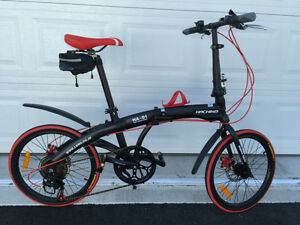 Hachiko 7 speed disc brake foldable/folding bike (brand new)
