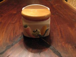 Vintage Ceramic Salt Box