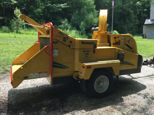 Vermeer Bc 1500 Xl wood/brush chipper with winch