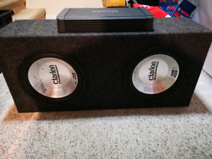 10 inch clarion subs and amp