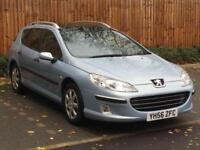 2006 '56'Peugeot 407 SW 1.6HDi S, 110 BHP, 5 Door Estate, Diesel.