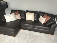 Dark Brown 4 Seater Sofa