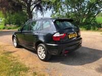 07 BMW X3 2.0D M SPORT 2 KEYS FULL HISTORY JUST SERVICED BLACK LEATHER PX SWAPS