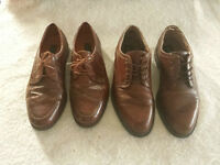 2 pairs of vintage genuine Italian leather shoes, only $40 each