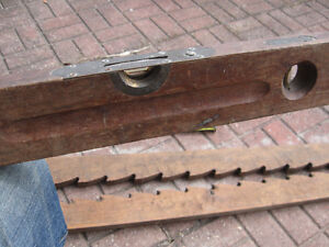antique wood tools, plane, clamps and stanley level Windsor Region Ontario image 3